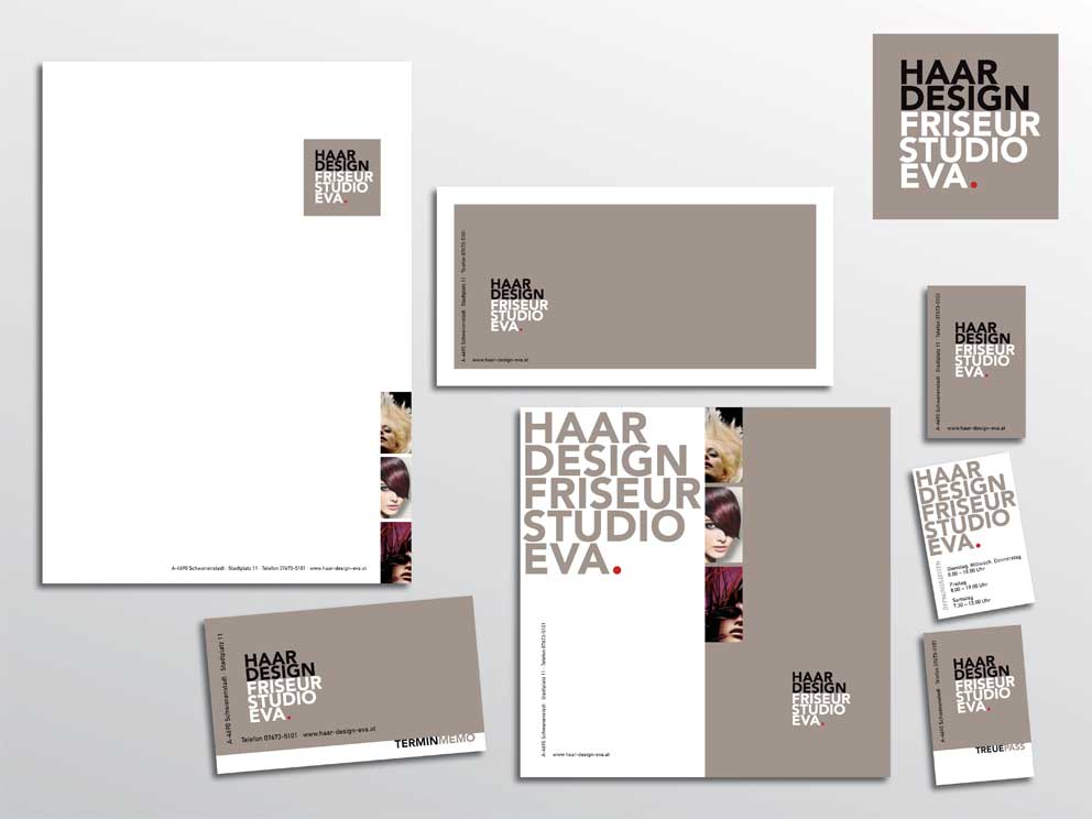 "Corporate Design ""Haardesign Studio Eva"""